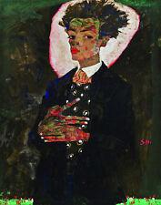 Schiele Egon #2 Self Portrait Print 11 x 14 #  #3232