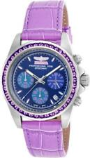 Invicta 18658 Speedway Chronograph 41 Purple Amethysts Accented GMT Womens Watch