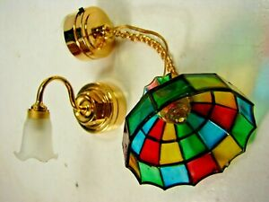 Vintage DOLLHOUSE ELECTRIC LIGHT FIXTURES - Two SPECTACULAR & WORKING!!