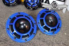 Hella Metallic Blue Supertone Universal Horn Kit 300/500HZ - Genuine Hella Kit!