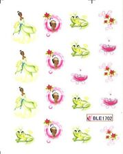 Disney Tiana Green Gown Nail Stickers Nail Art Decal Manicure Water Transfer
