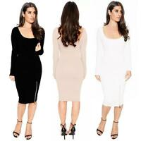 Womens Long Sleeve Bodycon Evening Party Cocktail Autum Winter Turtleneck Dress