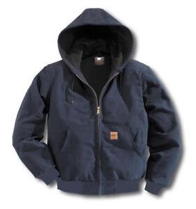 Men Sandstone Canvas Quilted Thermal Lined Duck Coat Winter Duck Jacket Work