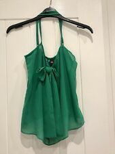 ASOS Green Bow Front Cami Vest Top - Size 6 Brand New