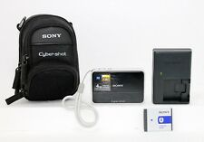 Sony Cyber-shot DSC-T2 8.1MP Digital Camera - Black w/ Charger and Case