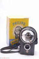 NICE & READ*  PHILIPS BAKELITE FLASH BOX CAMERA 6X6CM ON 620 FILM W/ MAKERS BOX