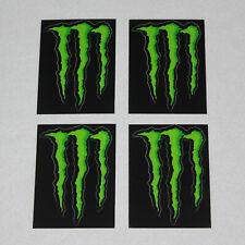4 Stk. Monster Energy Kralle Sticker / ca. 11 x 8 cm / Grün