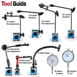 Dial Indicator Holder 80kg Magnetic Base Holder 360° Swivel Arm Fine Adjustment