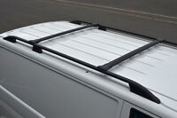 Black Cross Bar Rail Set To Fit Roof Side Bars To Fit Vauxhall Vivaro (2002-14)