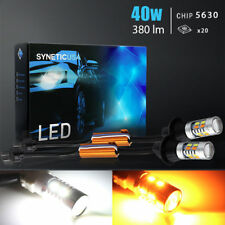 Error Free 7443 Dual Color Switchback LED Front Turn Signal Light Bulbs Kit