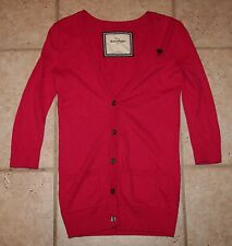 Abercrombie Girls Large Pink Button Front Cardigan Sweater