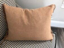 Ann Gish Art of Home Decorative Pillow Camel Lambswool Fringed 15 x 22 2 availab