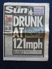 1997 Princess Diana car Crash Newspaper. Frank Skinner, Major James Hewitt