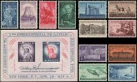 1956 Year Set of 12 Commemorative Stamps & S/S Mint NH - Stuart Katz