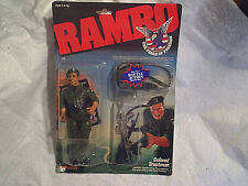 1986 RAMBO COLONEL TRAUTMAN ACTION FIGURE SEALED coleco 0803,war movie,i d card