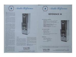 """BROCHURE ENCEINTES AUDIO REFERENCE """"REFERENCE 85"""" 1985"""