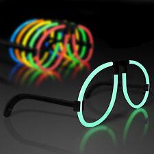 100pc Diy Green Glow Sticks Glasses Frame Luminous Light Up Neon Party Birthday