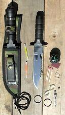 Couteau de survie Chasse  pêche / armée Commando +Accessoires
