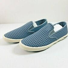 SeaVees Men's Baja Slip On Portal Sneaker Blue Mirage Nubuck Leather Size 8.5