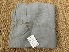 NWT Quatrefoil Sham Pillowcase Pair Queen Coal