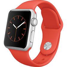 Apple Watch Sport 38mm Aluminum Case Orange Sport Band - (MLCF2LL/A)