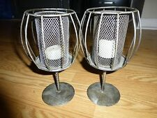 2 Wire Candle Holders with Votive Candles