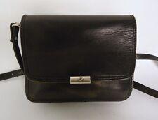Vintage Negro Cuero Bolso Bolso de Hombro Bolso de mano