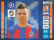 N°293 DURIS # SLOVAKIA VIKTORIA PLZEN CHAMPIONS LEAGUE 2014 STICKER PANINI