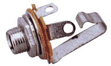 Fiche Jack 6.35 Mono Femelle Chassis Corps Métallique Connections à souder