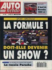 AUTO HEBDO n°892 du 4 Août 1993 24h de SPA MERCEDES 1733 (camion 1000ch)