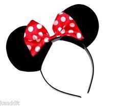 Minnie Mouse Ears Hen Nights Womens Girls Mickey Party Fancy Dress Headband BNIP