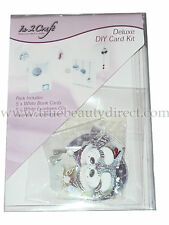 IN 2 CRAFT DIY XMAS CARD KIT CHRISTMAS SET 5 MAKE YOUR OWN CARDS EMBELLISHMENTS