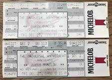 (2) BARRY MANILOW 1991 Full Concert TICKETS Universal LA Copacabana MANDY Memory