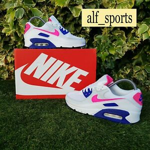 ❤ BNWB & Authentic Nike ® Air Max 90 Pink Concord Trainers in UK Size 5 EU 38.5