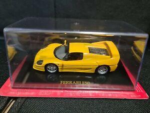 Ferrari F50 Yellow 1/43 Altaya Yellow Display Case Official