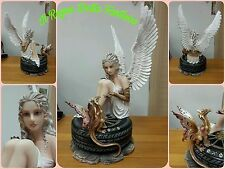 ANGELO ANGEL FAIRY FEES ELFEN FATA HADAS ENGEL CON RUOTA E DRAGO NO LES ALPES