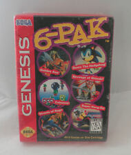New, Sealed 6-Pak (Sonic, Golden Axe, Streets of Rage,...) for Sega Genesis