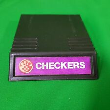 Intellivision Checkers 1979 two overlay cards Video Games USA Retro Mattel