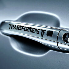 "4pcs/Set 12 x 2cm Reflective Auto Car Sticker ""Transformer"" Door Knob Decals BK"