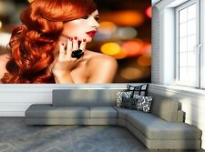 Woman with Long Red Hairs  Photo Wallpaper Wall Mural DECOR Paper Poster