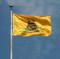 Tea Party Gadsden Don't Tread on Me Flag 3x5 3' x 5' Super Poly Banner (ru179)