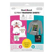 Heatnbond EZ Transfer Sheet Combo 10 pack. Easily Personalise T-Shirts ETC