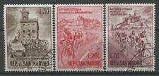 """No: 62147 - SAN MARINO - """"CYCLING"""" - LOT OF 3 OLD STAMPS - USED!!"""