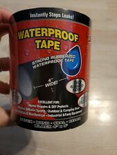 New listing New Waterproof Tape Rubberized Super Strong Tape, 4 Inches X 5 Feet, Black 2Pack