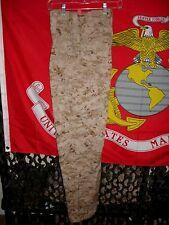 USMC MARPAT Uniform Desert Combat FROG Pants in size Small Long