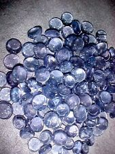 24 LBS PERIWINKLE FLAT GLASS MARBLES GEMS, VASE FILLERS, MOSAIC TILES $31.88!!