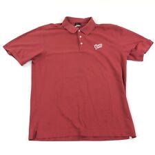 Mens Golf Clothing Nike Polo Shirt XL Red Short Sleeve Fit Dry Coors Light Flaw