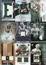 Lot of 9 New York Jets Autograph, Jersey, Relic and #'d cards