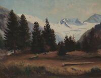 Otto A. KRAUSE 1885 - 1975 - Schlegeiskees Zillertaler Alpen Breitnock Weißzint