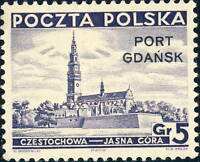 POLOGNE / POLAND - PORT GDANSK - 1937 - Mi.32 5gr. Dark Violet-Blue - Mint*